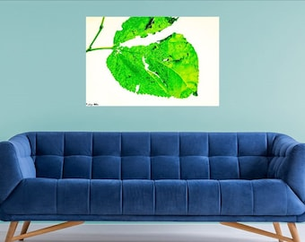 Downloadable, digital art, photography, modern, green Leaf, wall art, decor, home and office, deals, best selling, printable, large print