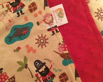 Pirate Lovey // Lovey Blanket // Lovie // Baby Blanket // Pirate Blanket
