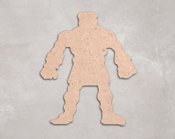 """Wooden monster, Cutout Shape, Unfinished, craft supplies, decoration, 2"""" 34"""" Home Decor, Wall Hanging, DIY, MDF shape"""