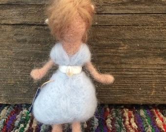 Pearl Flower Fairy. Wool felted fairy. Needle felting. Waldorf inspired.