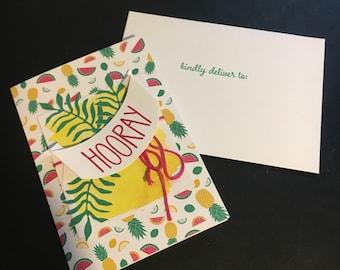 Congratulations Card- Hooray