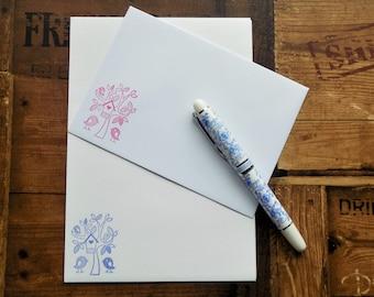 Birdhouse Letter/Writing/Stationary Set