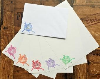 Wool/Yarn/Knitting/Crochet Letter/Writing/Stationary Set