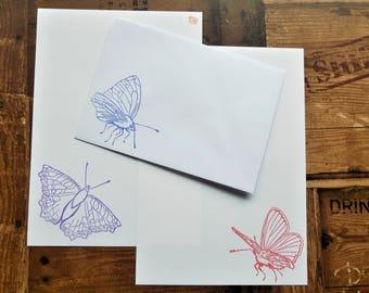 Butterflies Letter/Writing/Stationary Set