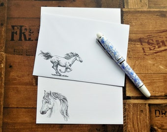 Horses Letter/Writing/Stationary Set