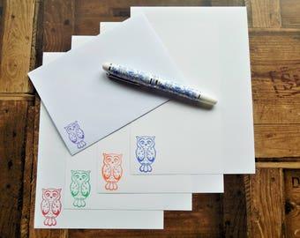 Owl Letter/Writing/Stationary Set