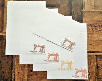 Vintage Sewing Machine Letter/Writing/Stationary Set