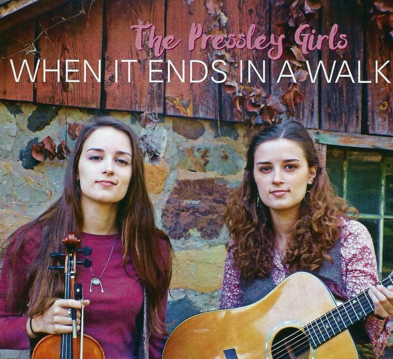 The Pressley Girls  When it Ends in a Walk cd image 0