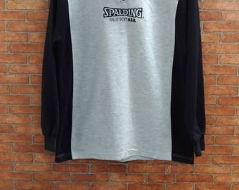 Rare!!Spalding sweater Half zip Medium Size