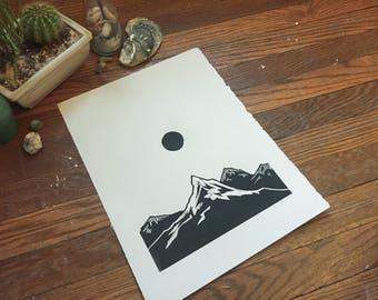 Mountain Eclipse Print