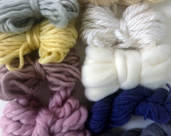 Floral | Limited Availability | Fiber Pack | Yarn Pack | Roving | Loom Art Kit | Learn to Weave | Child Activity | Weaving Beginner