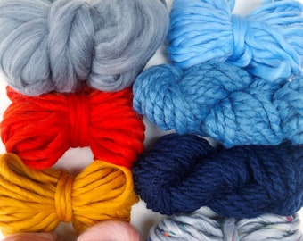 Sweater Weather | Limited Availability | Fiber Pack | Yarn Pack | Roving | Loom Art Kit | Learn to Weave | Child Activity | Weaving Beginner