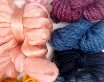 Sunrise | Limited Availability | Fiber Pack | Yarn Pack | Roving | Loom Art Kit | Learn to Weave | Child Activity | Weaving Beginners