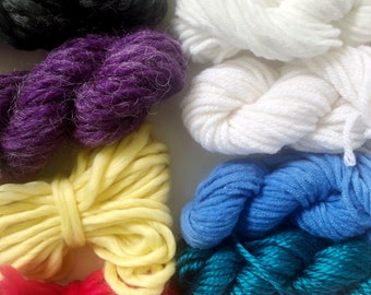 Be Bold | Limited Availability | Fiber Pack | Yarn Pack | Roving | Loom Art Kit | Learn to Weave | Child Activity | Weaving Beginner