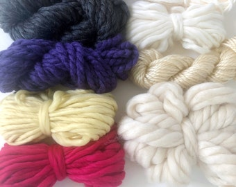 Bold Floral | Limited Availability | Fiber Pack | Yarn Pack | Roving | Loom Art Kit | Learn to Weave | Child Activity | Weaving Beginner