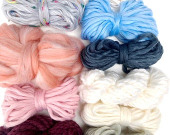 Whimsy | Limited Availability | Fiber Pack | Yarn Pack | Roving | Loom Art Kit | Learn to Weave | Child Activity | Weaving Beginners