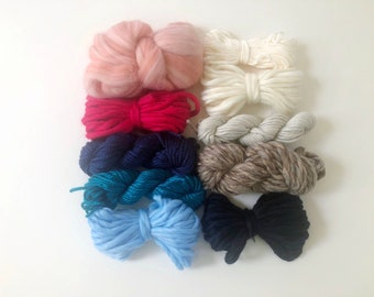 Water Sunset | Limited Availability | Fiber Pack | Yarn Pack | Roving | Loom Art Kit | Learn to Weave | Child Activity | Weaving Beginner