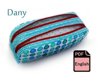 Pencil or Cosmetics case - E-Book PDF sewing tutorial & pattern DANY