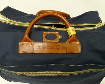 Vintage Jumbo Size Felisi Cotton Canvas Travel Bag