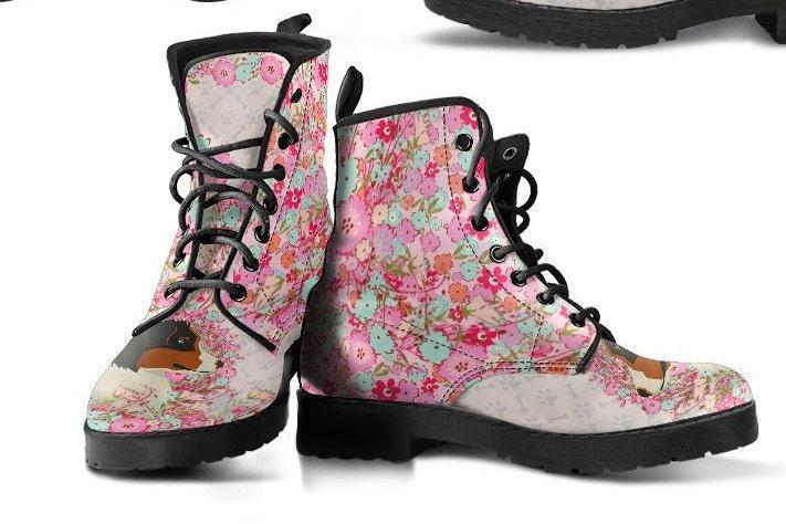 Berger australien en cuir cuir cuir bottes - AHT Floral rose - cadeau pour les amateurs de Berger australien maman propriétaires - PT10442 603ebe
