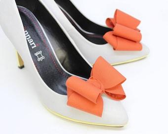 Orange 3D Bows Shoe Slips Bridal Wedding Accessories For Shoes