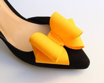 2f047e513727de Shoe Clips Bows Yellow Mustard Accessories for Shoes
