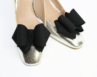 Classy Black Bows Shoe Clips Party Accessories for shoes