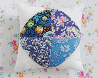 Pin cushion handmade with Liberty fabrics Kaylie Sunshine