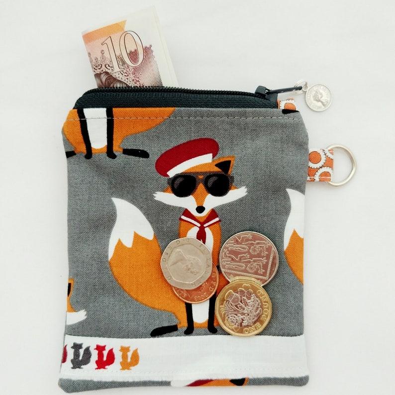 Fabulous Foxes Small Coin Purse /& Matching Key Ribbon