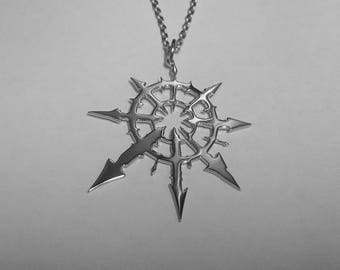 Chaos pendant etsy chaos star pendant chaos star necklace stainless steel warhammer pendant warhammer necklace star of chaos pendant star of chaos symbol sign aloadofball Gallery