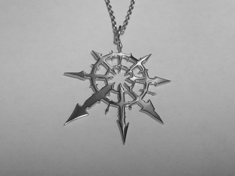 f7390297a795 Chaos Star Pendant Chaos Star Necklace Stainless Steel   Etsy