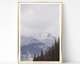 Mountain Art Print, Minimalist Wall Art, Large Poster Print, Digital Download, Printable Art, Wanderlust Gift for Men, Nature Photography