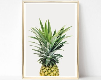 Pineapple Print, Pineapple Wall Art, Tropical Print, Kitchen Decor, Printable Pineapple Poster, Large Poster, Digital Art Instant Download