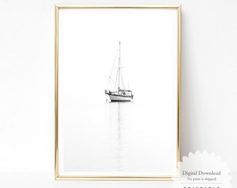 picture relating to Sailboat Printable titled Sailboat printable Etsy