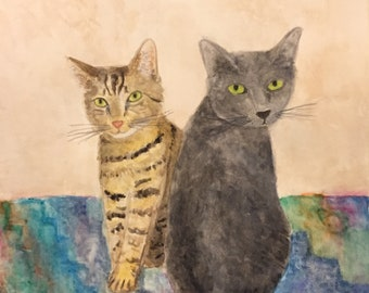Custom Pet Portrait - 8x10 Watercolor