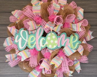 """Easter Welcome Wreath 24"""""""