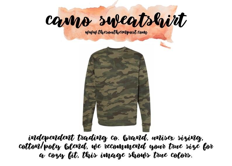 Camo Monogram Sweatshirt