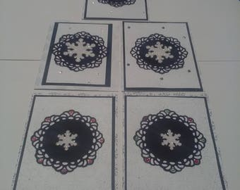 Black and White Snowflake