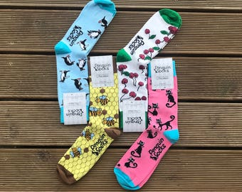 Four pack - Funny Socks Box for Women