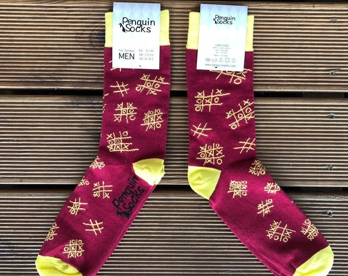 Tic tac toe socks - Funny socks for Men