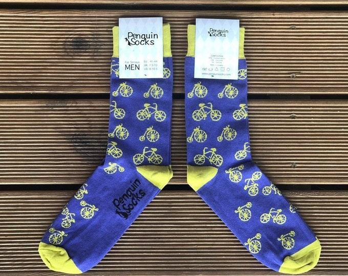 Bike socks — Violet Funny Socks for Men