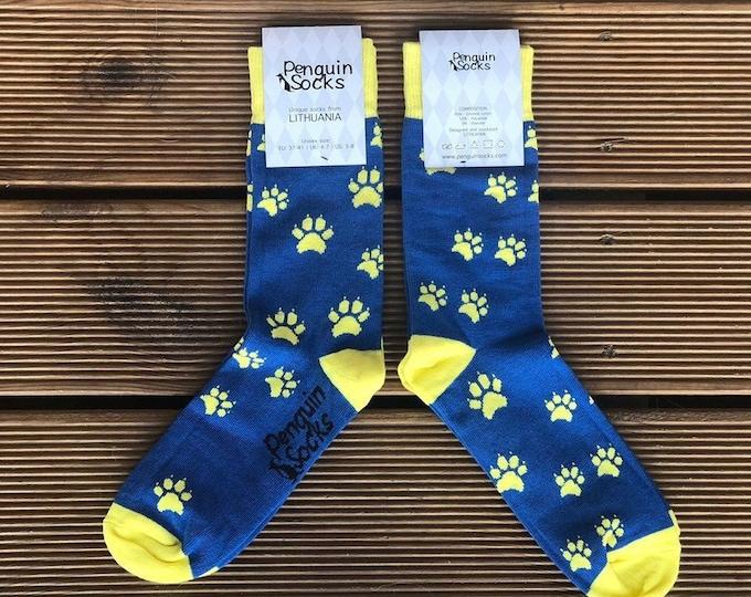 Dog footprints socks - Funny socks for Women