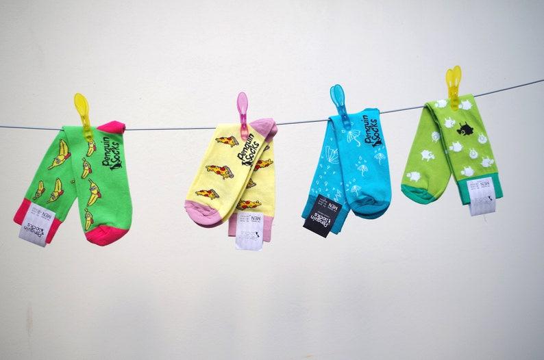 Banana socks Funny socks for Men Novelty socks Cool Socks Gift for Men Fun socks Unique mens clothing for Gift Unique men accessory