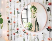 Hanging Flower Wall Decor Aesthetic Flower and Succulent Vase Glass Vases room decoration with flowers