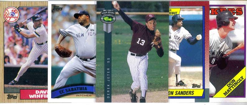 250 Assorted Cards NEW YORK YANKEES Baseball Team Lot