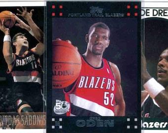 PORTLAND TRAIL BLAZERS Basketball Team Lot - 150 Assorted Cards