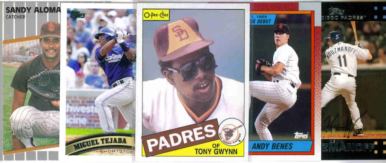 250 Assorted Cards SAN DIEGO PADRES Baseball Team Lot
