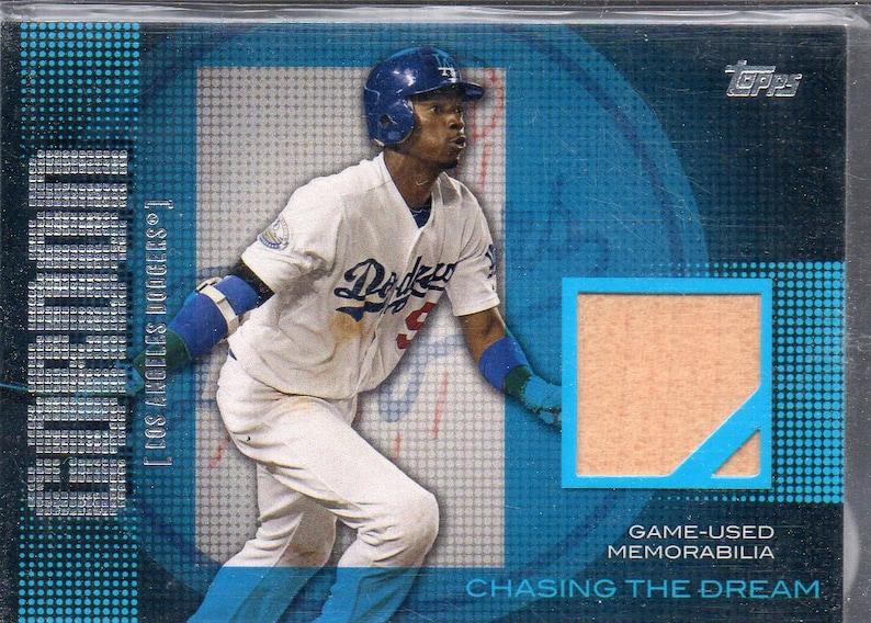 DEE GORDON 2013 Topps Chasing the Dream Game Bat Baseball Card Los Angeles Dodgers