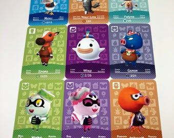 Animal Crossing Special Character Amiibo Cards Felyne Cece Viche Wolf Link Epona Medli Ganon Inkwell