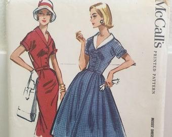 Vintage McCalls 4353 1950s Dress Pattern